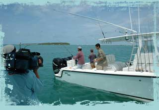 Tarpon fishing with make a wish foundation recipient Jonathon Nitch