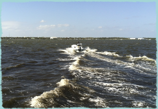 Hells Bay Boatworks Biscayne Running in Rough Water
