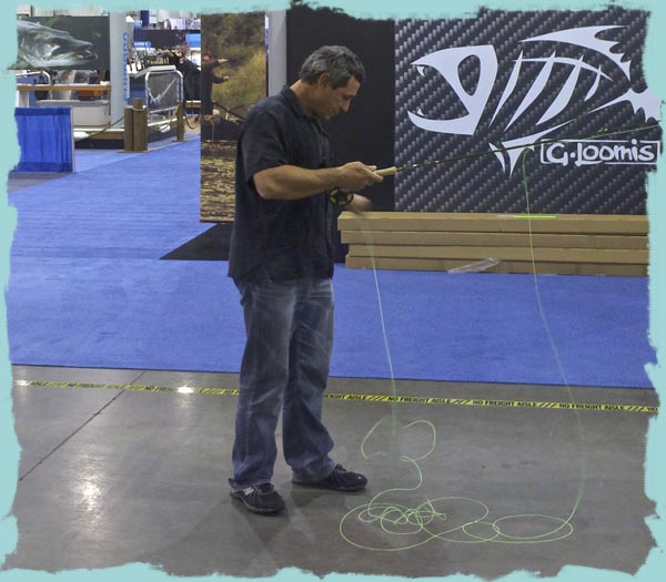 Jose Wejebe casts new G Loomis PRO4X Fly Rods iCast 2011