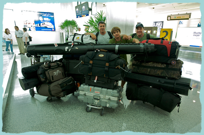 Spanish Fly Crew with Gear ready for Galapagos